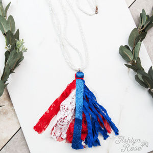 True Patriot Tassel Necklace